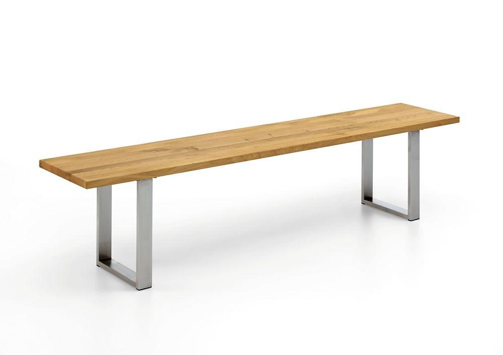 Oak Edition Sitzbank (Gestell Edelstahl gebürstet)