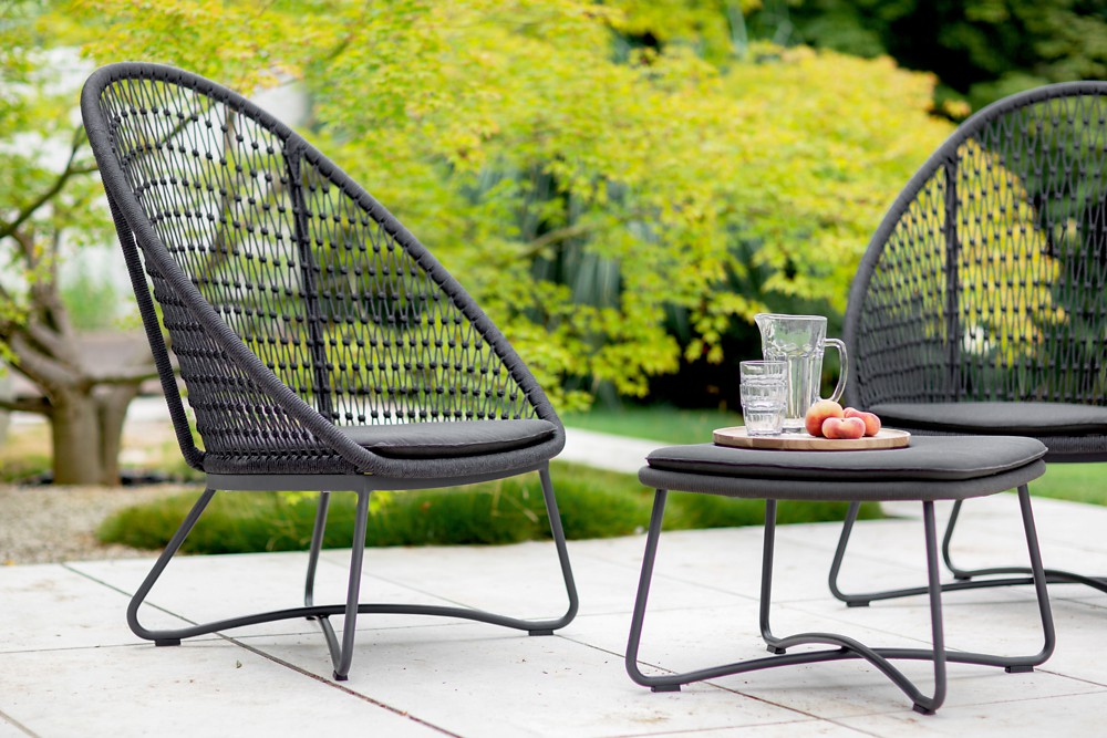 KUTA Garten Lounge Hocker