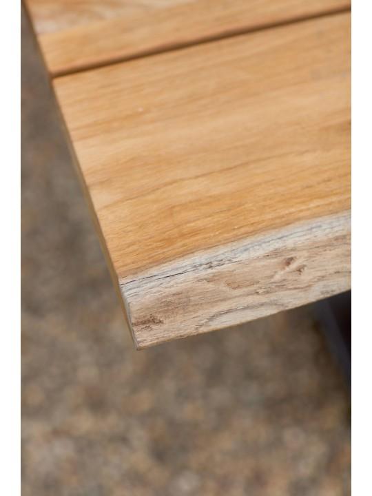 Garten Sitzbank Solid ( X-Gestell Aluminium)