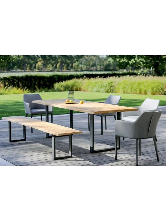 Garten Sitzbank Solid (Profilkufe Aluminium anthrazit)