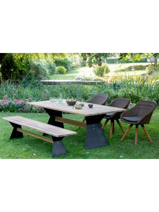 Nero Design Teak Gartentisch