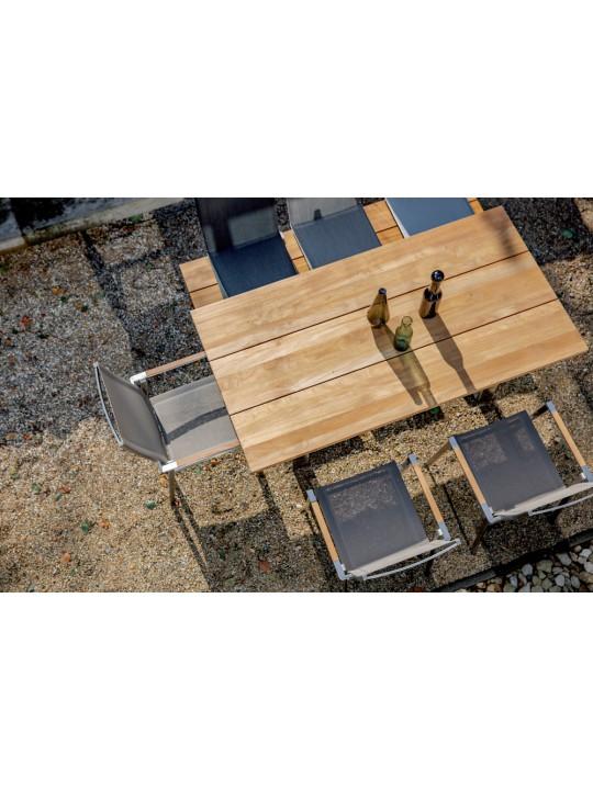 Gartentisch Noah Teak (Profilkufe)