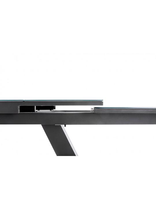 Design Gartentisch Plank (mit Glasauflage)