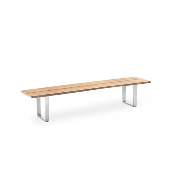 Garten Sitzbank Solid (Profilkufe Edelstahl)
