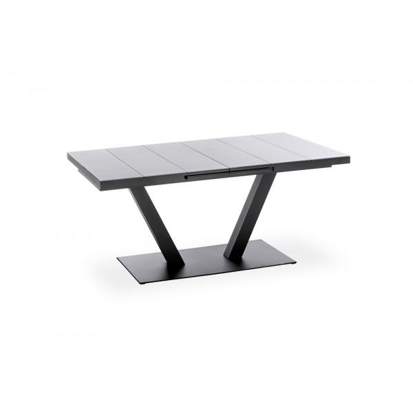 PLANK Design Gartentisch (mit Glasauflage)