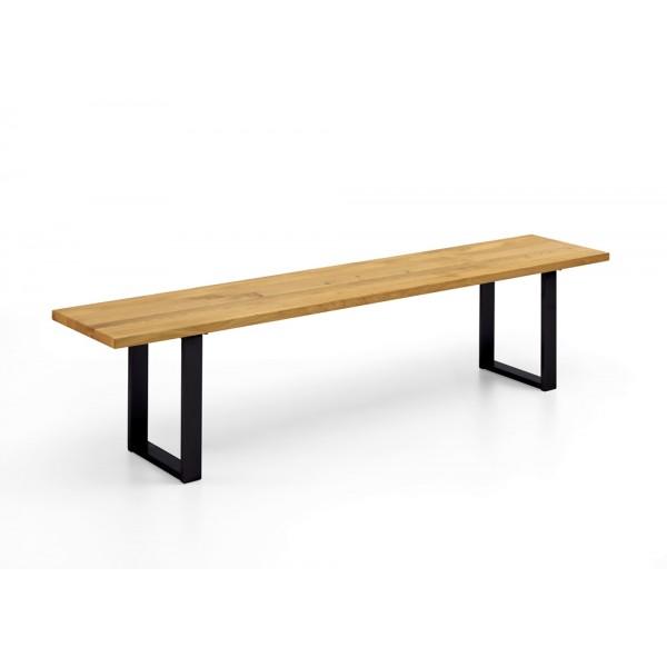 Oak Edition Sitzbank (Gestell Eisen schwarz)